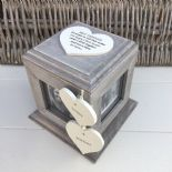 Shabby Chic PERSONALISED Rustic Wood Special Best Friend ANY NAME Photo Cube - 332870606879